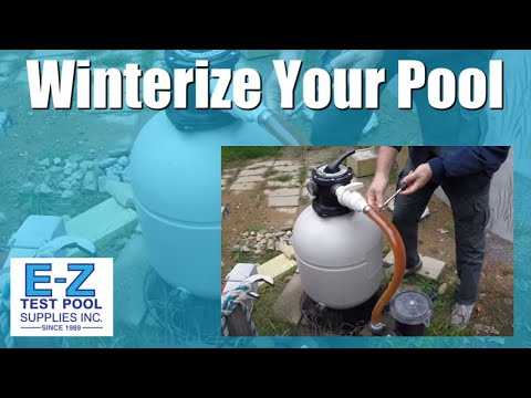 Above Ground Pool Closing - How to Prepare your Pool Equipment for Winter