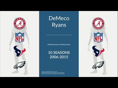 DeMeco Ryans: Football Defensive Quality Control Coach
