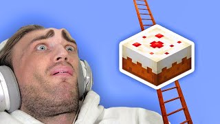 I Built A Cake Ladder in Minecraft to prove god is real