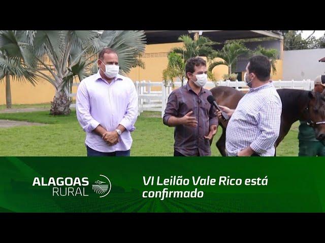 VI Leilão Vale Rico está confirmado