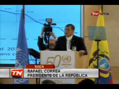 Presidente Correa expuso modelo ecuatoriano en sede de la ONU