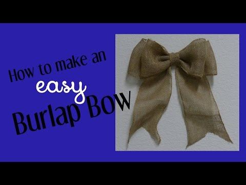 How To Make An Easy Bow For Wreaths Home Decor