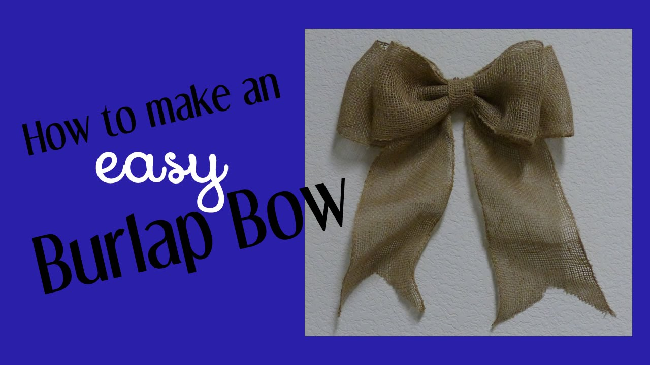 How to make an easy bow for wreaths home decor youtube ccuart Image collections