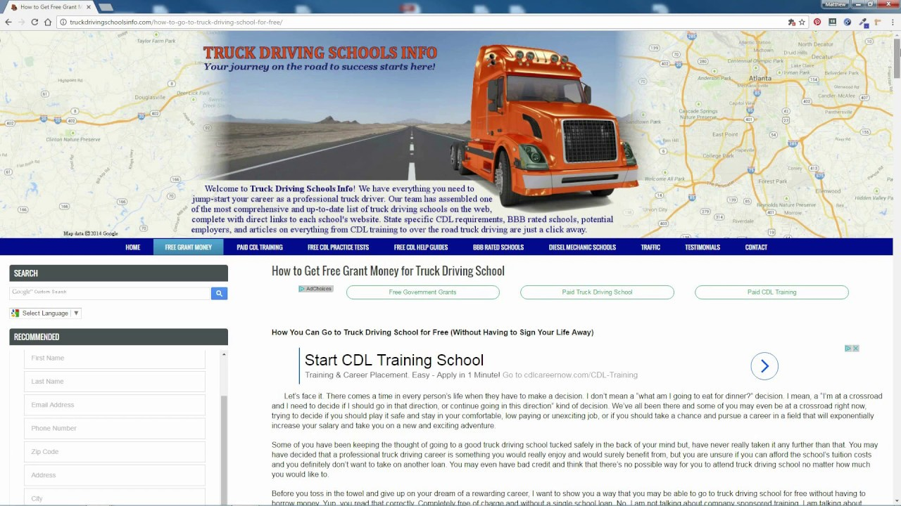 How To Get Free Grants For Truck Driving School Youtube