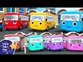 Ten Little Buses -  Winter! | +More Nursery Rhymes and Kids Songs | Little Baby Bum