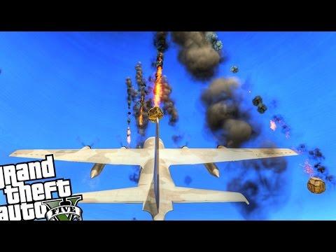 Epic Meteorite Shower Attack! - GTA 5 PC MOD (Meteor Shower Mod - Grand Theft Auto 5 PC)