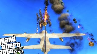 Epic Meteorite Shower Attack! - GTA 5 PC MOD (Meteor Shower Mod - Grand Theft Auto 5 PC)