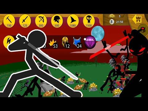 Stick War Legacy Mod 1 TỶ Gem Kiếm SĨ Mạnh Nhất Thế Giới Giết Khổng Lồ 1 Hit Top Game Android Ios