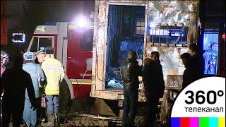 Пожар в бытовке в Москве: шесть человек отравились продуктами горения