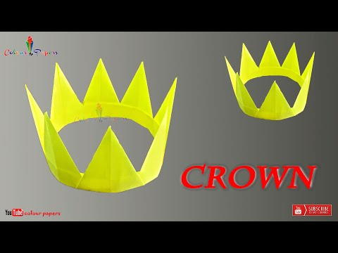 How To Make A Paper Crown | colour papers | Easy Tutorial | DIY