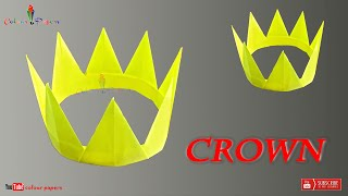 How To Make A Paper Crown   colour papers   Easy Tutorial   DIY