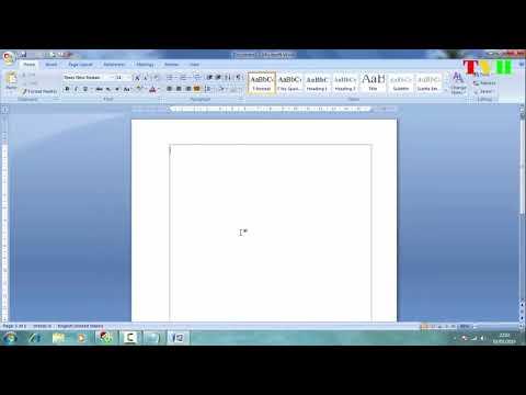 Hướng dẫn đổi inh sang Cm trong word 2007, chia văn bản làm 2,3,4 cột