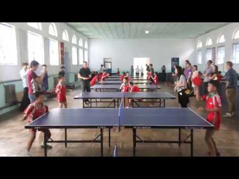 Ping Pong Training for Young Children in North Korea