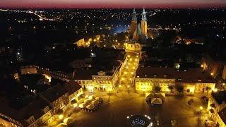 Gniezno nocą - zapis pierwszej transmisji z 25 września 2016 - Dron.Gniezno.pl i Gniezno.com.pl