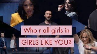 26 Women Celebrities In Maroon5 - Girls Like You Ft. Cardi B Volume 2