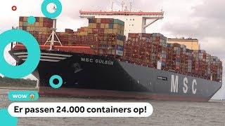 Het grootste containerschip ter wereld is in Rotterdam