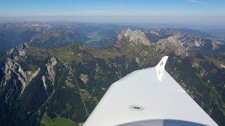 Panoramaflug durch die Allgäuer Alpen nach Kempten (EDMK) - Aquila A211