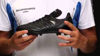 Oculto cruzar precisamente  Zapatos adidas Copa Mundial blanco y negros - YouTube