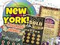Wonka Golden Ticket & Black & Gold New York Lottery Scratch Off Tickets