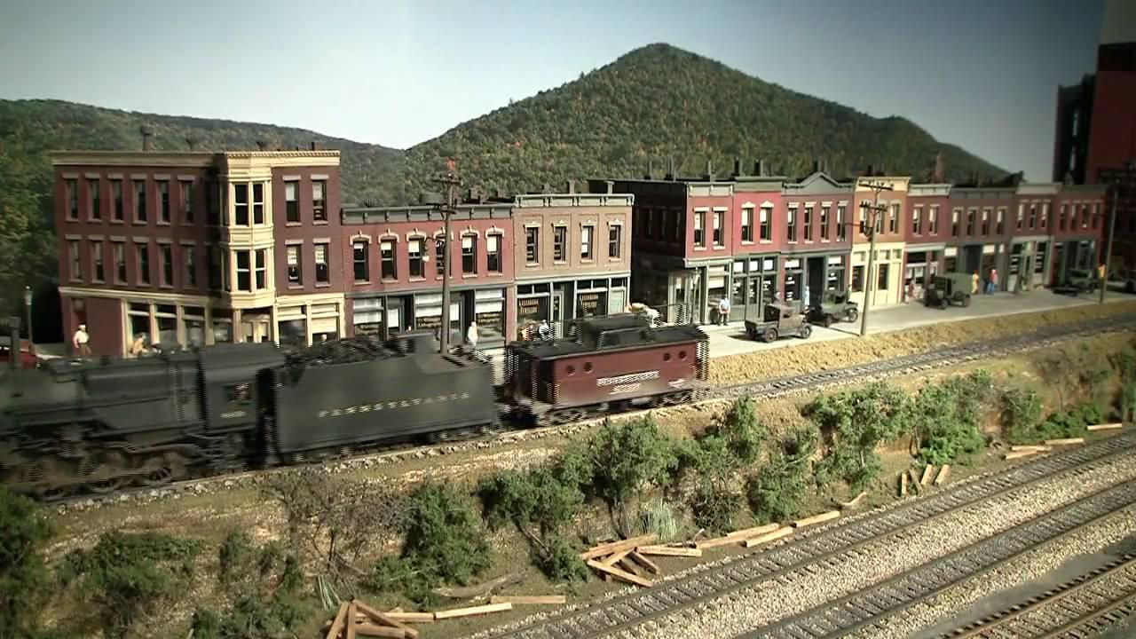 Model Train Layout PRR Ore Train Part 2 - YouTube