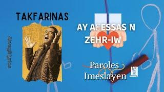 Takfarinas - AY AƐESSAS N ZEHR-IW  (Paroles)