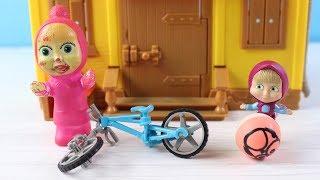 Maşa Yeni Oyuncak Bisikleti İle Oynuyor Maşa Ve Heidi Parka Gidiyor Çizgi film İzle