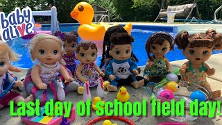 Baby Alive Last day of school Field Day Fun