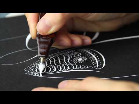Offhand Fish Flourishing by Master Penman Connie Chen
