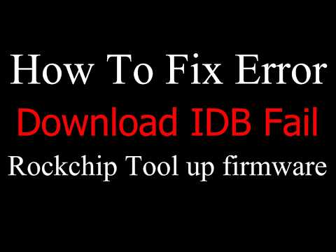 IDB Fail - impossible to update no Firmware - Hardware