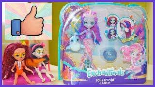Распаковка игрушки Enchantimals Морские подружки с друзьями! Новая кукла с дельфином Энчантималс