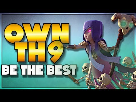 Be the BEST TH9 in your Clan Using Witch Slap | Clash of Clans