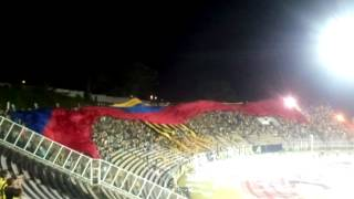 Himno de Venezuela + Bandera gigante de Avalancha Sur vs. Barcelona SC.