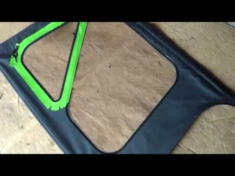 Plasti Dip Smoke Jeep Wrangler Soft Top Windows Test