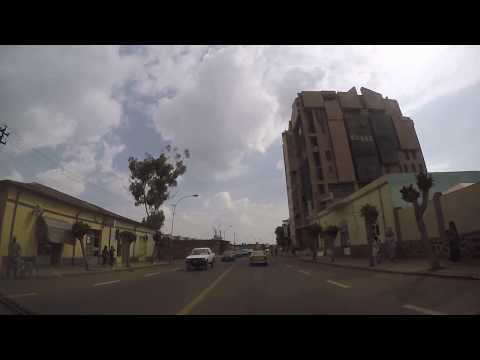 Beautiful City Drive in Asmara, Eritrea 2017