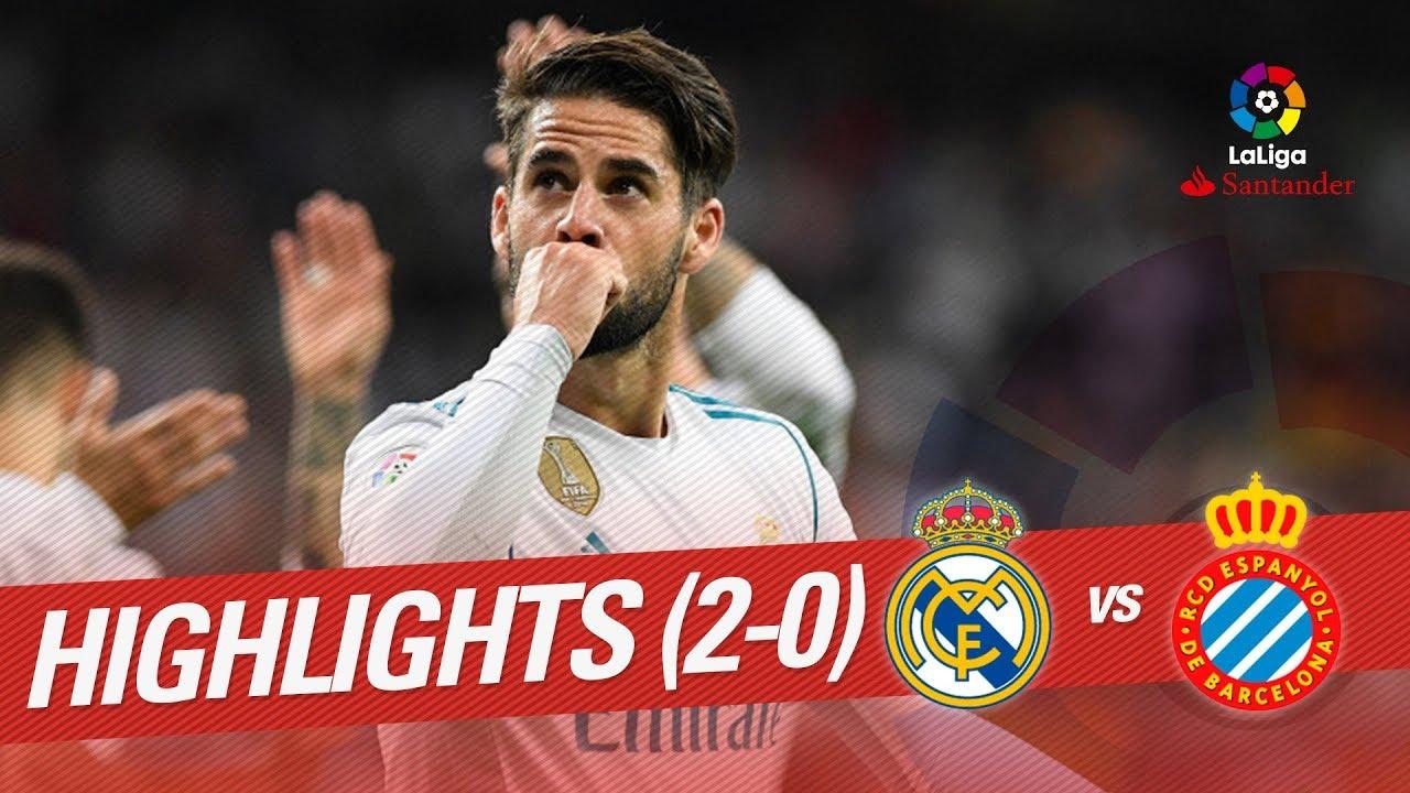 Resumen De Real Madrid Vs Rcd Espanyol 2 0 Youtube