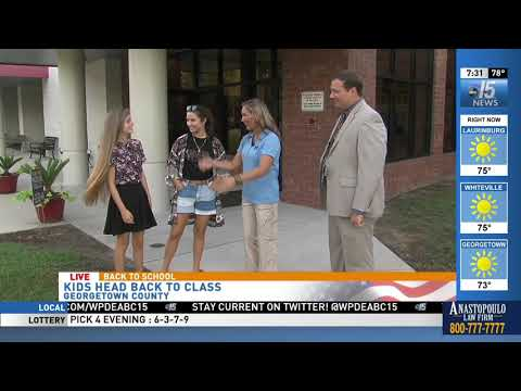 Amanda Live for Back to School at Waccamaw High School