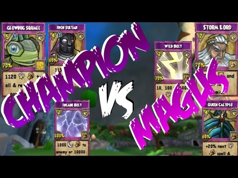 Wizard101: CHAMPION STORM VS MAGUS STORM (Ranked PvP)