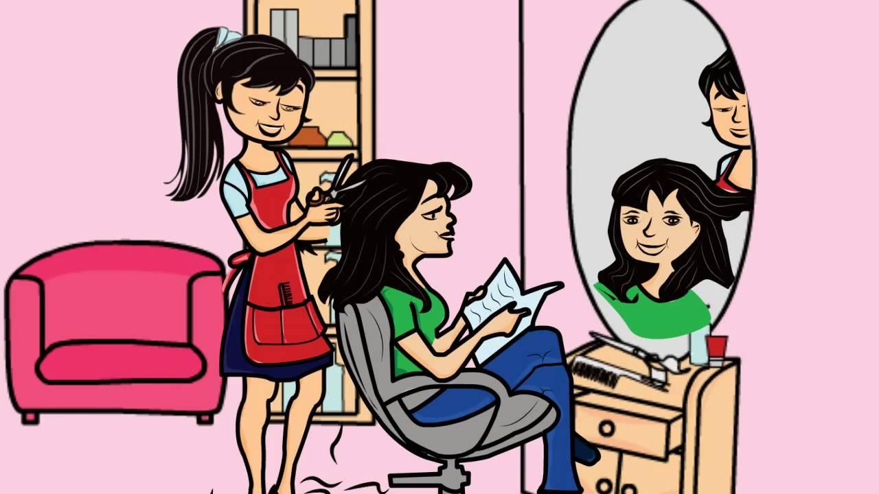 hair salon whiteboard animation