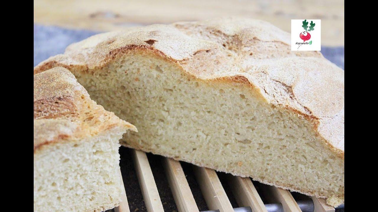 PANE SENZA IMPASTARE DI FARINA 0 E DI SEMOLA ricetta pane senza olio con semola rimacinata