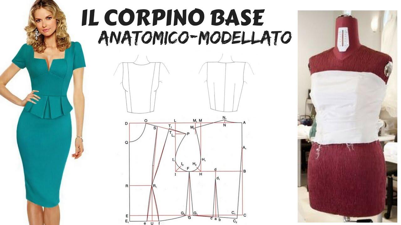 70180a524c43 costruire il CORPINO BASE MODELLATO - YouTube