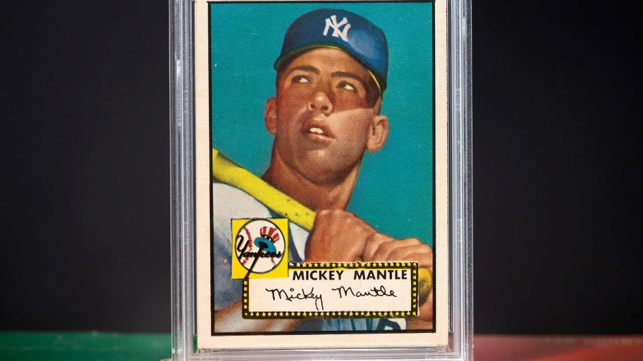 Iconic 1952 Topps Mickey Mantle Mint 9 Card Estimated To Bring 35 Million
