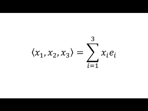 Index/Tensor notation: Vector Notation - Lesson 4