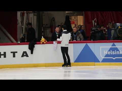 20181101 Helsinki Grand Prix - Yuzuru Hanyu OP before run through-1