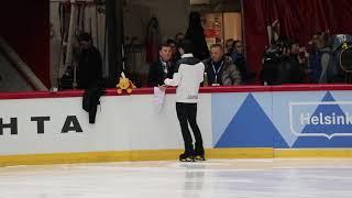 20181101 Helsinki Grand Prix - Yuzuru Hanyu OP before run through-1