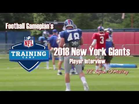 FBGP's 2018 New York Giants Training Camp Interview: Ryan O'Malley