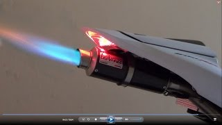 Honda CBR600RR 2012, Full Rpm, Exhaust Flames Fire (istimewa)