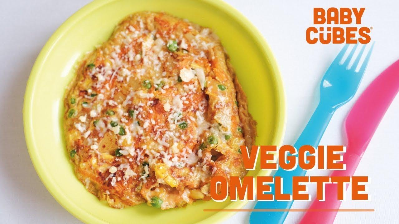 Baby Cubes Veggie Frittata Omelette Recipe Youtube