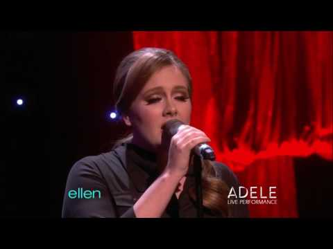 Adele - Someone Like You (Live at The Ellen Show)