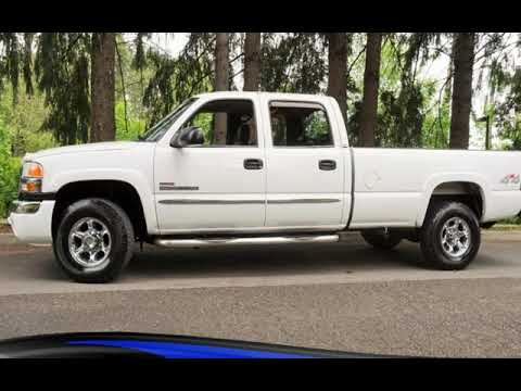 2005 GMC Sierra 2500 SLT 4dr Crew Cab 6.6L DURAMAX Long Bed Leather for sale in Milwaukie, OR