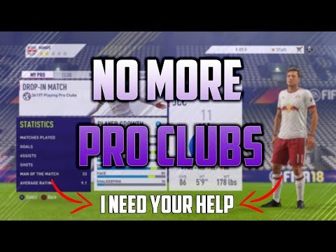 FIFA 18 Pro Clubs Glitch - I NEED YOUR HELP!